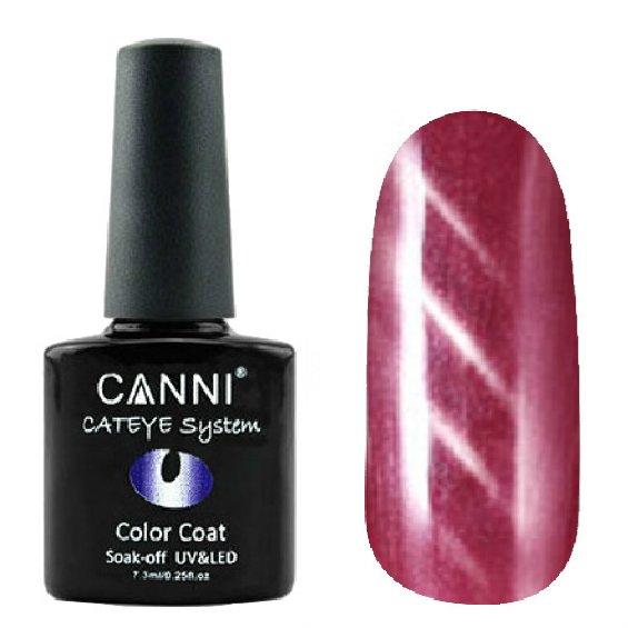 Canni, Cat Eye Color Coat - Магнитный гель лак №276 (7.3 мл)Canni<br>Магнитный гель лак, малиновый, перламутр, плотный<br>