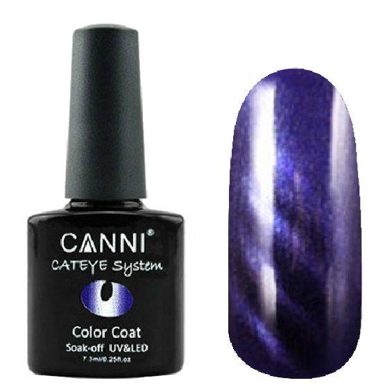 Canni, Cat Eye Color Coat - Магнитный гель лак №278 (7.3 мл)Canni<br>Магнитный гель лак, темный аметист, перламутр, плотный<br>
