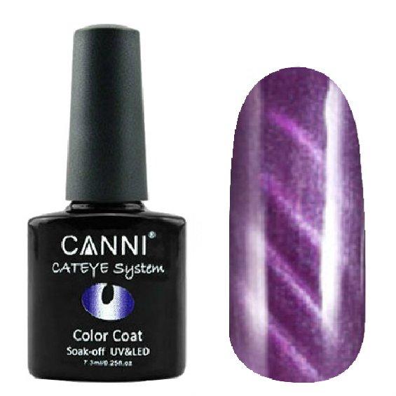 Canni, Cat Eye Color Coat - Магнитный гель лак №279 (7.3 мл)Canni<br>Магнитный гель лак, фиолетовый, перламутр, плотный<br>