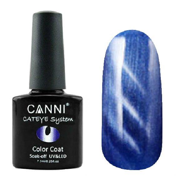 Canni, Cat Eye Color Coat - Магнитный гель лак №281 (7.3 мл)Canni<br>Магнитный гель лак, синий, перламутр, плотный<br>