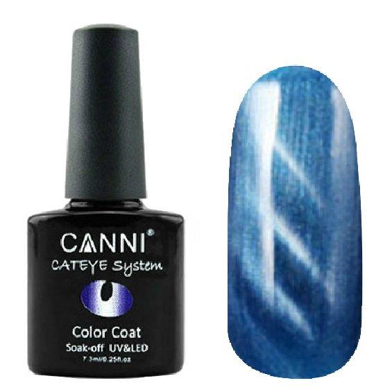 Canni, Cat Eye Color Coat - Магнитный гель лак №282 (7.3 мл)Canni<br>Магнитный гель лак, небесно-голубой, перламутр, плотный<br>