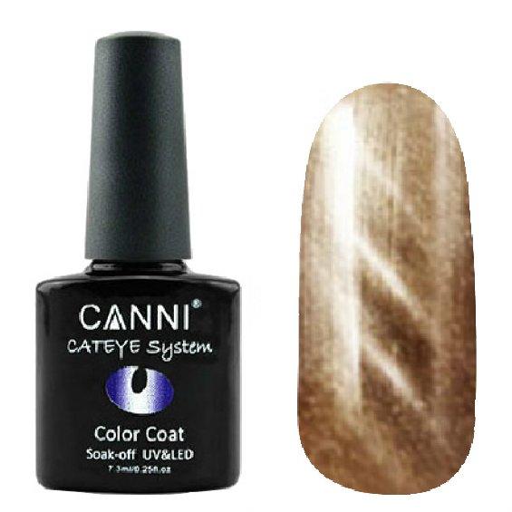 Canni, Cat Eye Color Coat - Магнитный гель лак №284 (7.3 мл)Canni<br>Магнитный гель лак, золотистый, перламутр, плотный<br>