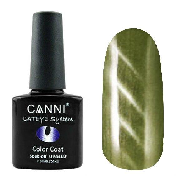 Canni, Cat Eye Color Coat - Магнитный гель лак №285 (7.3 мл)Canni<br>Магнитный гель лак, дымчатый топаз, перламутр, плотный<br>