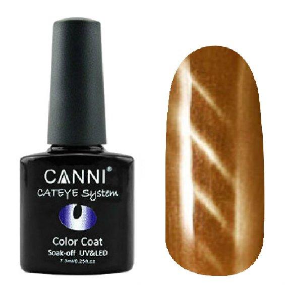 Canni, Cat Eye Color Coat - Магнитный гель лак №286 (7.3 мл)Canni<br>Магнитный гель лак, бронзовый, перламутр, плотный<br>