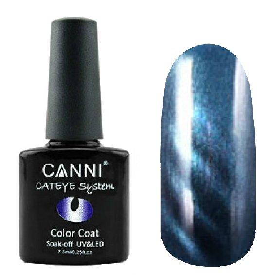Canni, Cat Eye Color Coat - Магнитный гель лак №287 (7.3 мл)Canni<br>Магнитный гель лак, синий, перламутр, плотный<br>