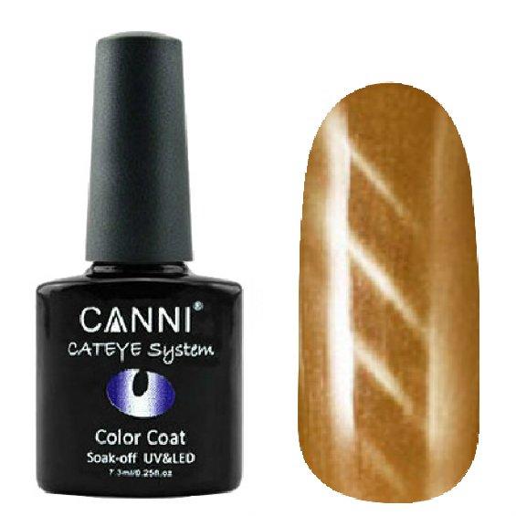 Canni, Cat Eye Color Coat - Магнитный гель лак №288 (7.3 мл)Canni<br>Магнитный гель лак, бежево-коричневый, перламутр, плотный<br>