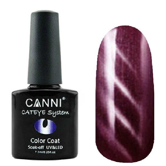 Canni, Cat Eye Color Coat - Магнитный гель лак №290 (7.3 мл)Canni<br>Магнитный гель лак,бордовый, перламутр, плотный<br>