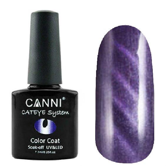 Canni, Cat Eye Color Coat - Магнитный гель лак №291 (7.3 мл)Canni<br>Магнитный гель лак, баклажановый, перламутр, плотный<br>