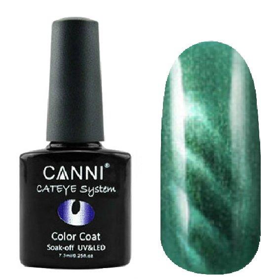Canni, Cat Eye Color Coat - Магнитный гель лак №293 (7.3 мл)Canni<br>Магнитный гель лак,зеленый, перламутр, плотный<br>