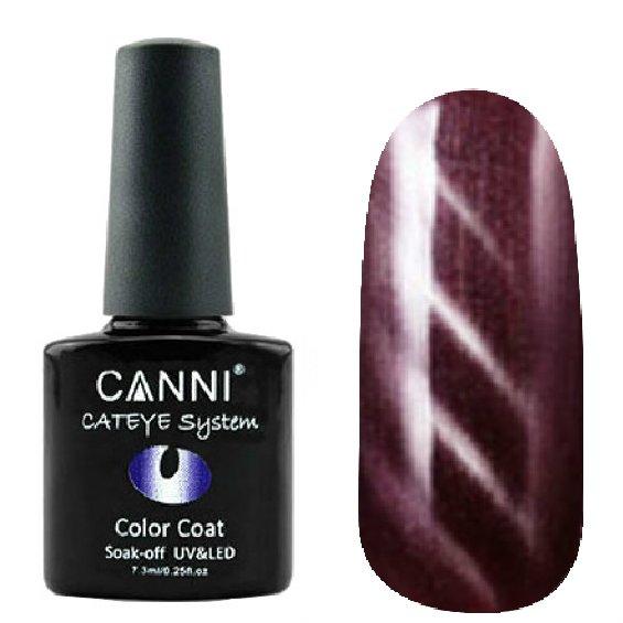 Canni, Cat Eye Color Coat - Магнитный гель лак №295 (7.3 мл)Canni<br>Магнитный гель лак, красновато-коричневый, перламутр, плотный<br>