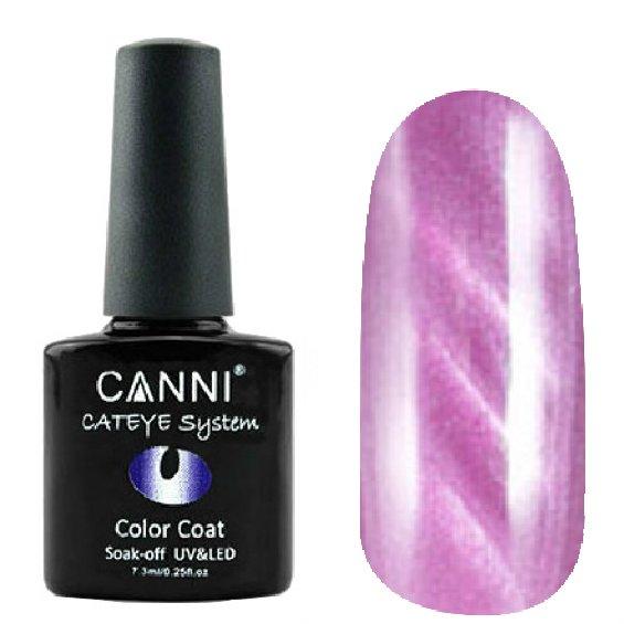 Canni, Cat Eye Color Coat - Магнитный гель лак №296 (7.3 мл)Canni<br>Магнитный гель лак,светлый розовато-сиреневый, перламутр, плотный<br>