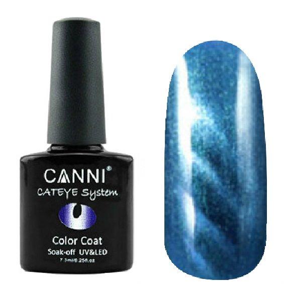 Canni, Cat Eye Color Coat - Магнитный гель лак №297 (7.3 мл)Canni<br>Магнитный гель лак,небесно-синий, перламутр, плотный<br>