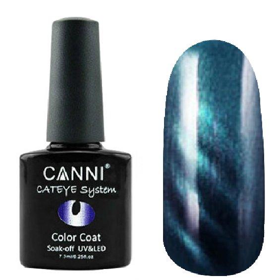 Canni, Cat Eye Color Coat - Магнитный гель лак №298 (7.3 мл)Canni<br>Магнитный гель лак,чернильно-синий, перламутр, плотный<br>