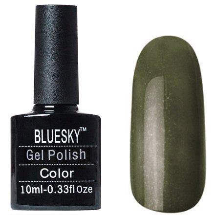 Bluesky Gel Polish, цвет W#32Bluesky 10 мл<br>Гель-лак болотный с золотым шиммером.<br>