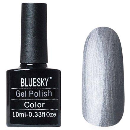 Bluesky, Gel Polish цвет №W33Bluesky 10 мл<br>Гель-лак серебряный с шиммером.<br>