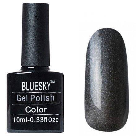 Bluesky, Gel Polish цвет №W34Bluesky 10 мл<br>Гель-лак темно-серебряный перламутровый.<br>