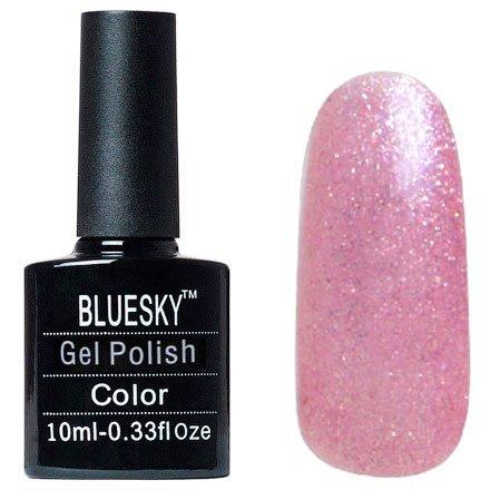 Bluesky, Шеллак цвет №025Bluesky 10 мл<br>Гель-лак розовый с блетсками, полупрозрачный.<br>