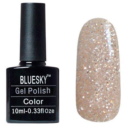 Bluesky Шеллак, цвет №028Bluesky 10 мл<br>Гель-лак бежевый с блестками, плотный.<br>
