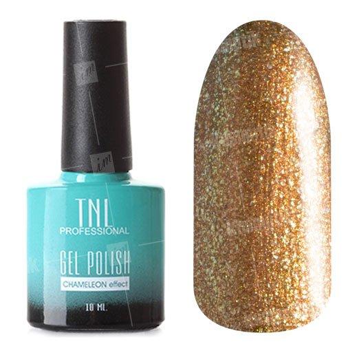 TNL, Гель-лак Chameleon Effect №37 - Звездный путь (10 мл.)TNL Professional <br>Гель-лак, золотой, с блестками, полупрозрачный<br>