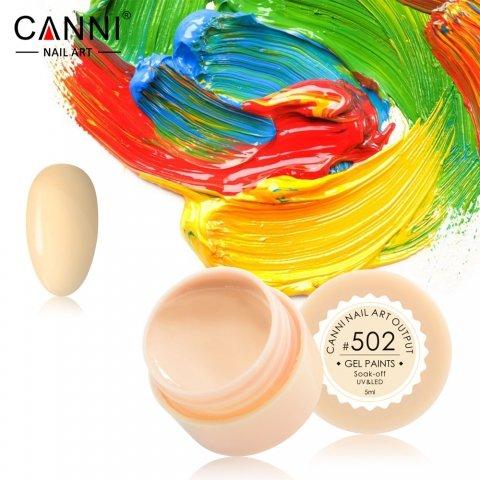 Canni, Гель-краска №502Гель-краски Canni<br>Гель-краска, пастельно-желтая, с липким слоем<br>
