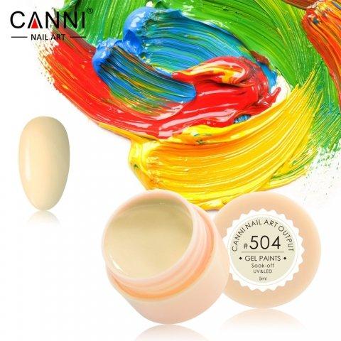 Canni, Гель-краска №504Гель краски Canni<br>Гель-краска,песочный оттенок, с липким слоем<br>