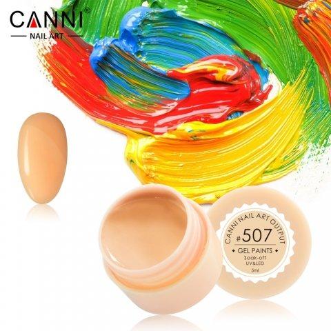 Canni, Гель-краска №507Гель краски Canni<br>Гель-краска, бледно-оранжевыйоттенок, с липким слоем<br>