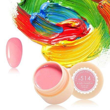 Canni, Гель-краска №514Гель краски Canni<br>Гель-краска, бледно-розовыйоттенок, с липким слоем<br>