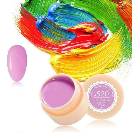 Canni, Гель-краска №520Гель краски Canni<br>Гель-краска, светло-сиреневогооттенка, с липким слоем<br>