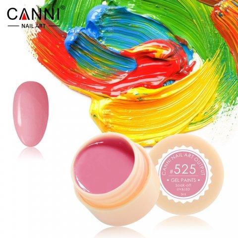 Canni, Гель-краска №525Гель краски Canni<br>Гель-краска, светло-малиновогооттенка, с липким слоем<br>