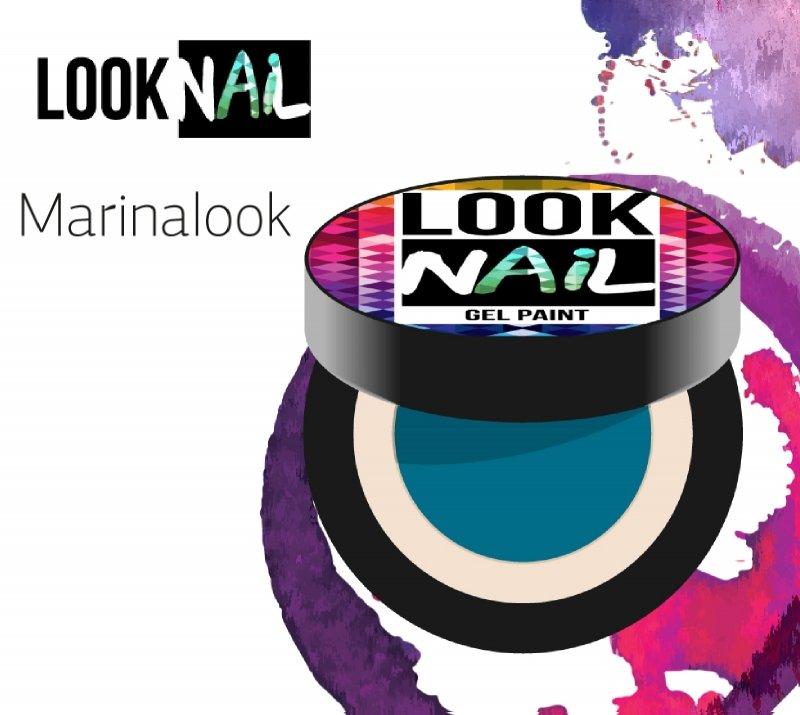 Look Nail, Гель-краска - Marinalook (Бирюзовый, 5 ml)