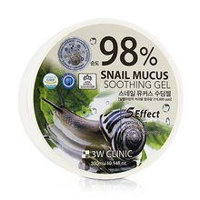 3W CLINIC, Snail Soothing Gel 98% - Гель универсальный (улиточный муцин, 300 гр.)