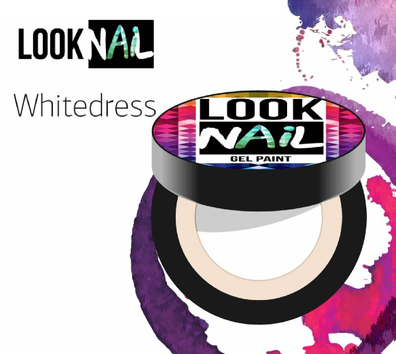 Look Nail, Гель-краска - Whitedress (Белоснежная, 5 ml)Гель краски Look Nail<br>Гель-краска, белоснежнаяс остаточной липкостью<br>