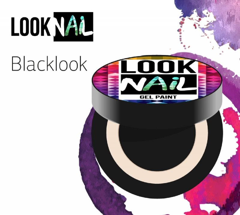 Look Nail, Гель-краска - Blacklook (Черная, 5 ml)Гель краски Look Nail<br>Гель-краска,черного цвета без остаточной липкости<br>