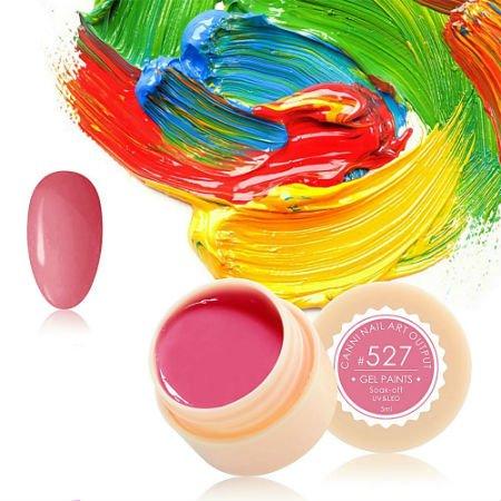 Canni, Гель-краска №527Гель краски Canni<br>Гель-краска,светло-малиновогооттенка, с липким слоем<br>