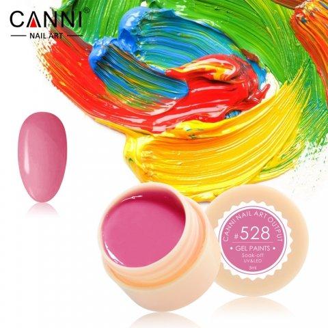 Canni, Гель-краска №528Гель краски Canni<br>Гель-краска,ярко-розовыйоттенок, с липким слоем<br>