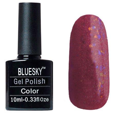 Bluesky Шеллак, цвет №058Bluesky 10 мл<br>Гель-лак фиолетово-бордовыйголографический, плотный.<br>