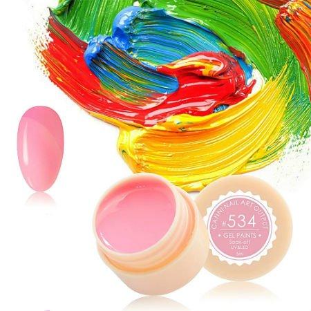 Canni, Гель-краска №534Гель краски Canni<br>Гель-краска, светло-розовоготтенка, с липким слоем<br>