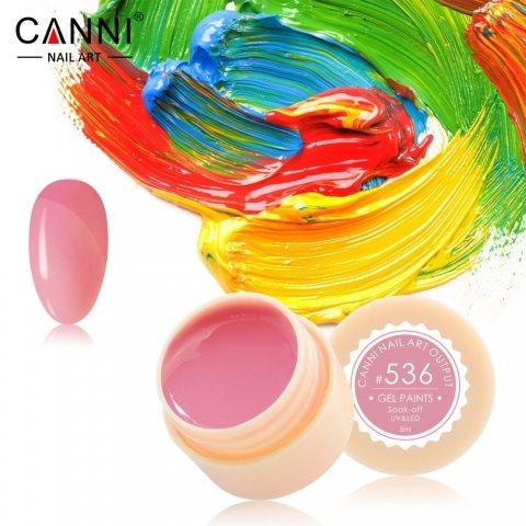 Canni, Гель-краска №536Гель краски Canni<br>Гель-краска,серо-розовогооттенка, с липким слоем<br>