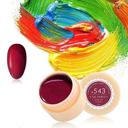 Canni, Гель-краска №543Гель краски Canni<br>Гель-краска,вишнёвогооттенка, с липким слоем<br>