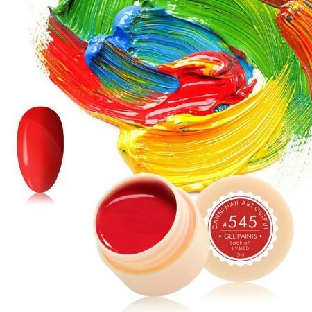 Canni, Гель-краска №545Гель краски Canni<br>Гель-краска,клубничногооттенка, с липким слоем<br>