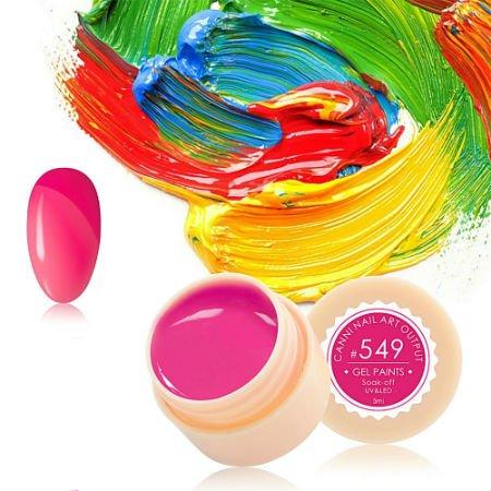 Canni, Гель-краска №549Гель краски Canni<br>Гель-краска,розовогоцвета, с липким слоем<br>