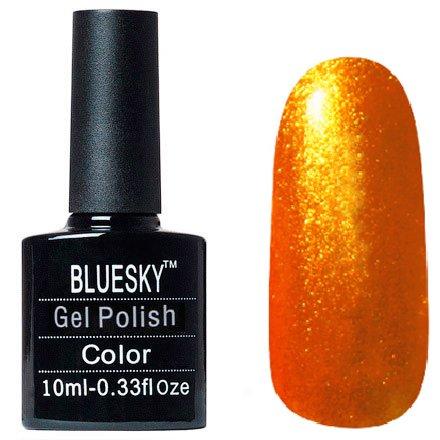 Bluesky Шеллак, цвет №061Bluesky 10 мл<br>Гель-лак огненно оранжевый с блестками, плотный.<br>