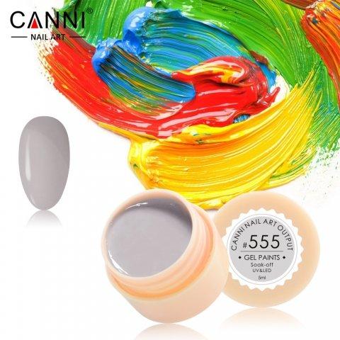 Canni, Гель-краска №555Гель краски Canni<br>Гель-краска,светло-серогоцвета, с липким слоем<br>