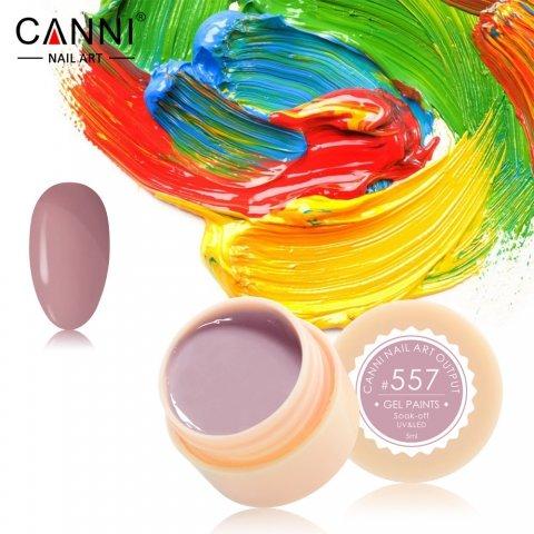 Canni, Гель-краска №557Гель краски Canni<br>Гель-краска,цвет какао, с липким слоем<br>