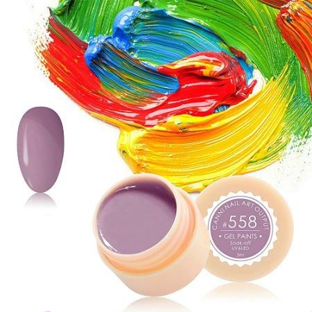 Canni, Гель-краска №558Гель краски Canni<br>Гель-краска,серо-сиреневого цвета, с липким слоем<br>