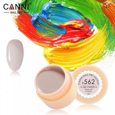 Canni, Гель-краска №562Гель краски Canni<br>Гель-краска,оттенок тёмной слоновой кости, с липким слоем<br>