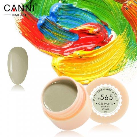 Canni, Гель-краска №565Гель краски Canni<br>Гель-краска,болотно-желтогоцвета, с липким слоем<br>