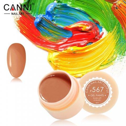 Canni, Гель-краска №567Гель краски Canni<br>Гель-краска, цвет оранжевой карамели, с липким слоем<br>