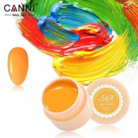 Canni, Гель-краска №569Гель краски Canni<br>Гель-краска,светло-оранжевого цвета, с липким слоем<br>