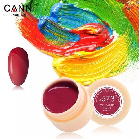 Canni, Гель-краска №573Гель краски Canni<br>Гель-краска,пастельный кораллово-розовый оттенок, с липким слоем<br>